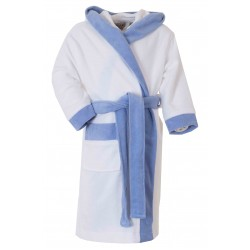 Kinderbadjas , 100% van Katoen Blauw