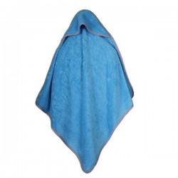 Baby Bamboe Handdoek Blauw Met Capuchon 75x75cm