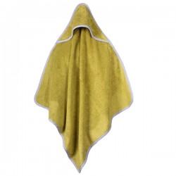 Baby Handdoek Groen Met Capuchon 75 x 75 cm