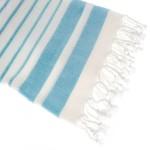 Hamamdoek, X.ZIIR Aquastreeps, Licht Blauw, 190x90 cm.