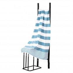 Hamamdoek, Blauw Wit  gestript , 95 x 170cm Dun