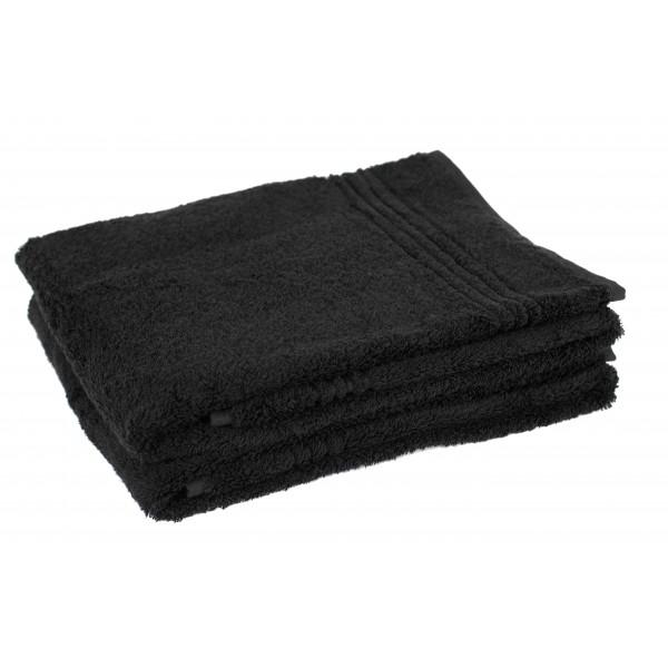 3 stuks Zwarte Bamboe Handdoek 100x50 cm, 600gr m2