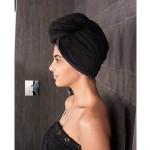 Haarhanddoek, Hoofdhanddoek van bamboe, Zwart