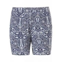 Pastunette  Deluxe Indigo Blue Paisley Pyjama Short