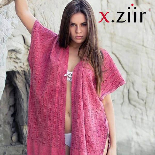 Xziir strand jurk van hamamdoek, Rood